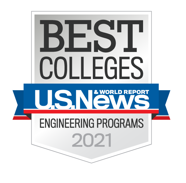 U.S. News and World Report Best Colleges Engineering 2021 Badge