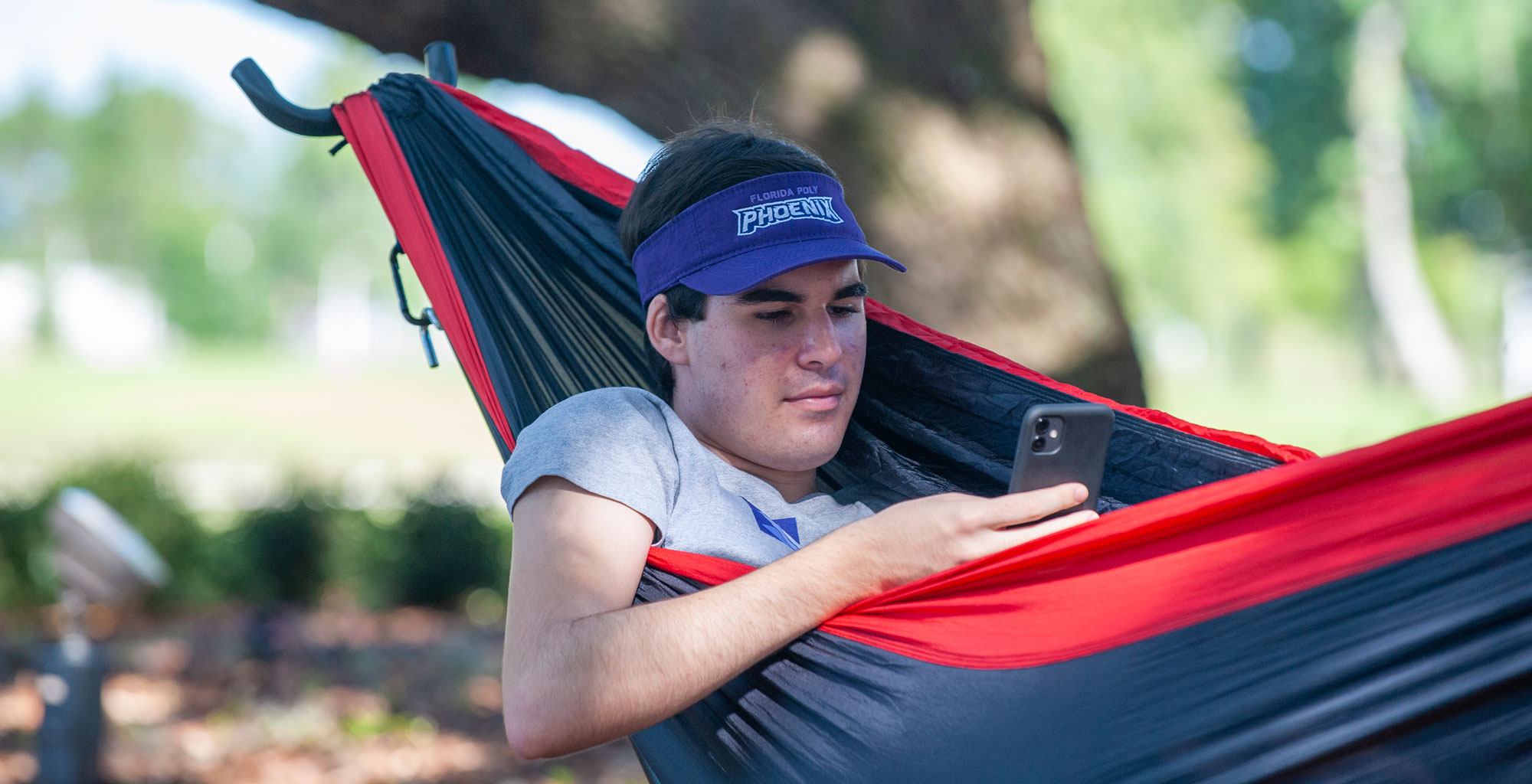 hammocking in the oak grove.