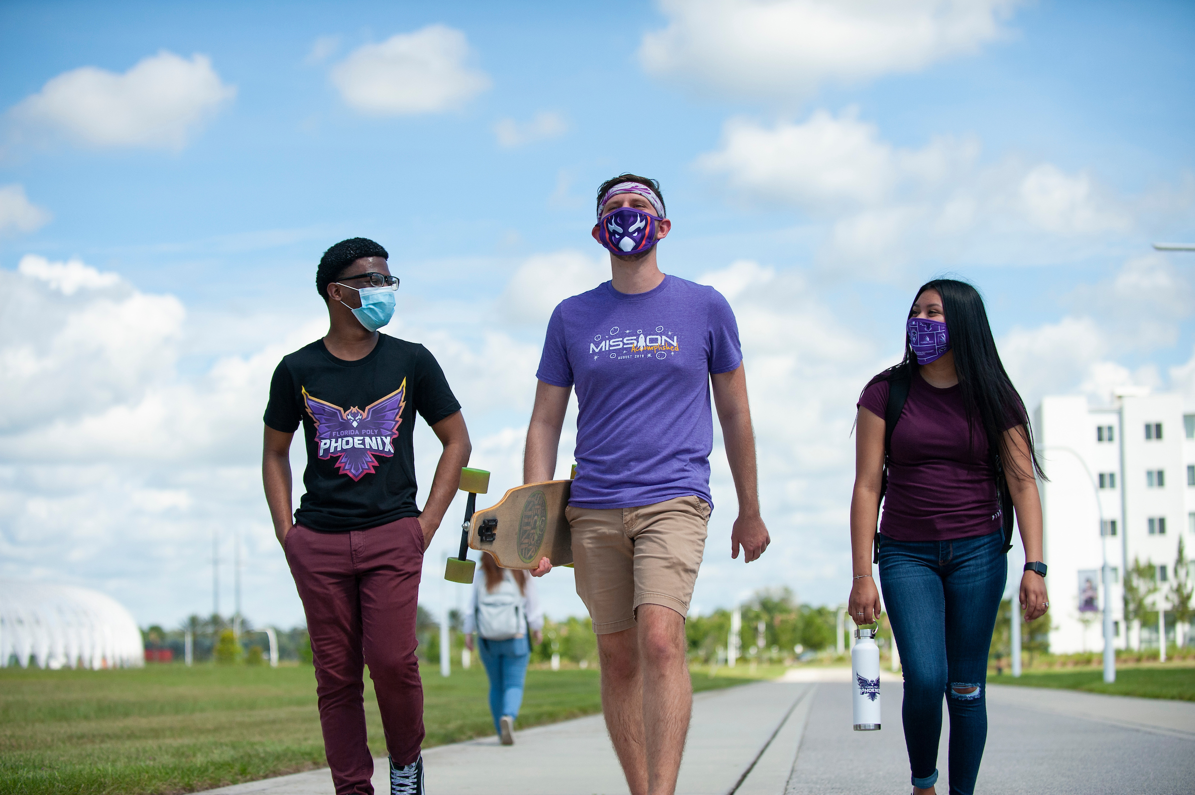 Students in face coverings