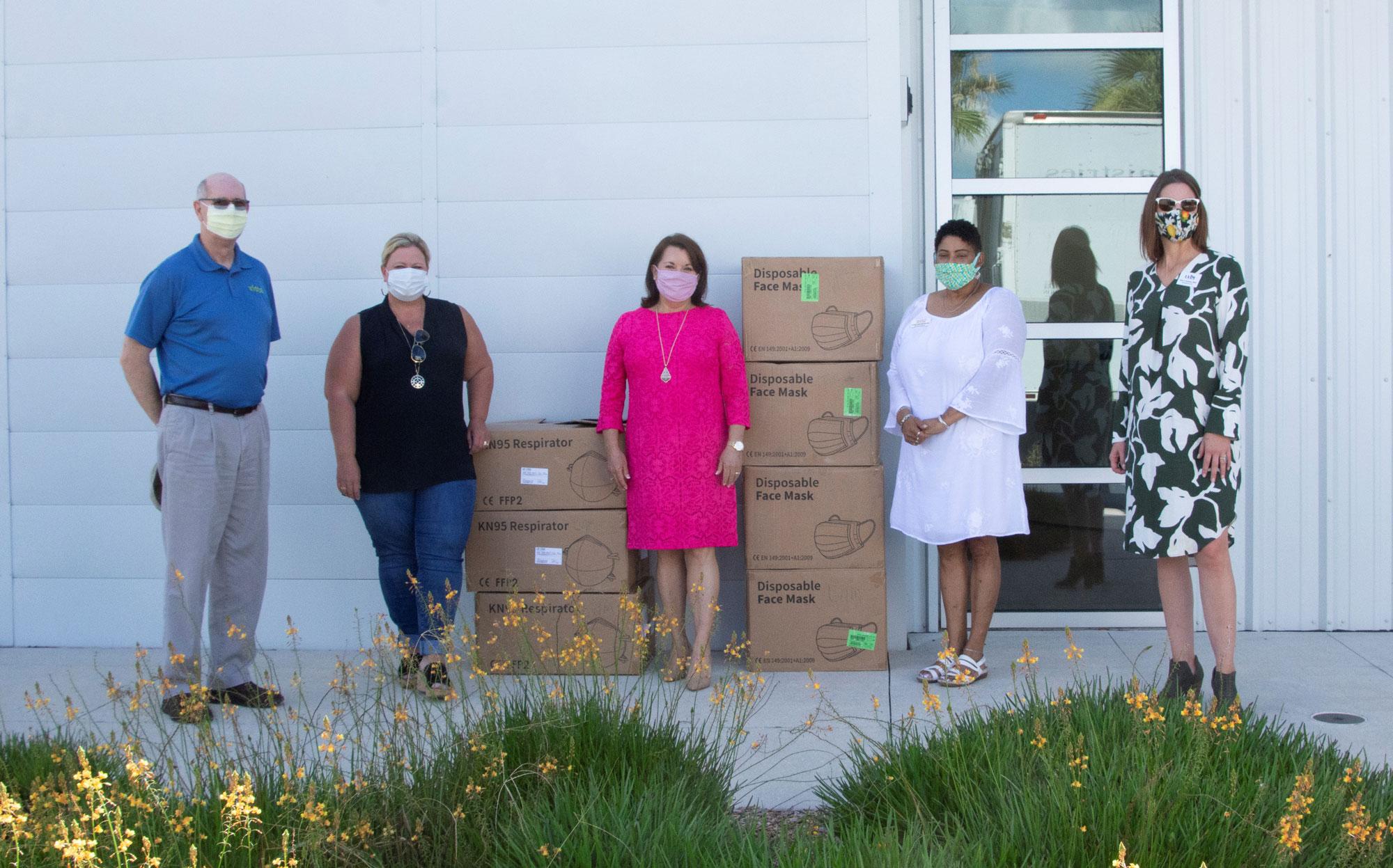 Florida Poly and Rep. Burton donate thousands of masks to Lakeland nonprofits