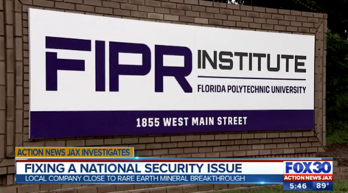 FIPR outdoor sign on Fox 30 news broadcast.