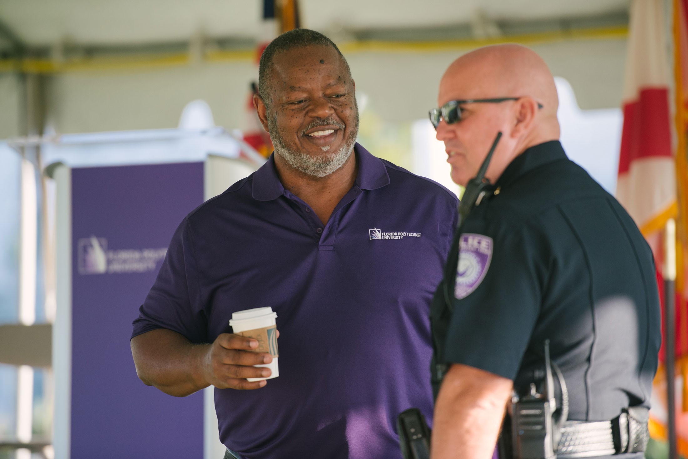Rickey Maxey talking with the police chief