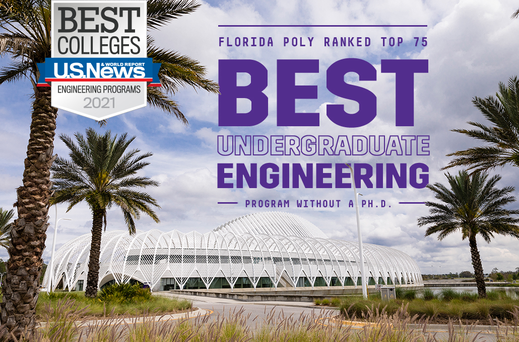 Florida Poly ranked top 75 best undergraduate engineering program without a Ph.D