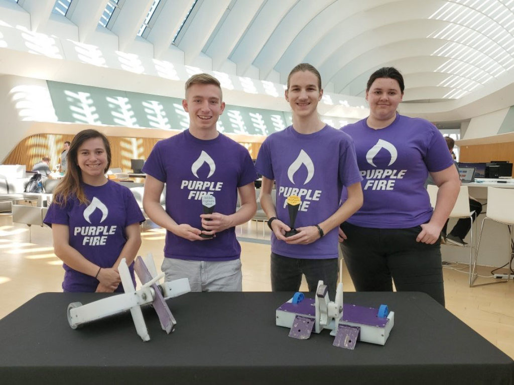 Purple Fire Robotics battles to number one in statewide competition