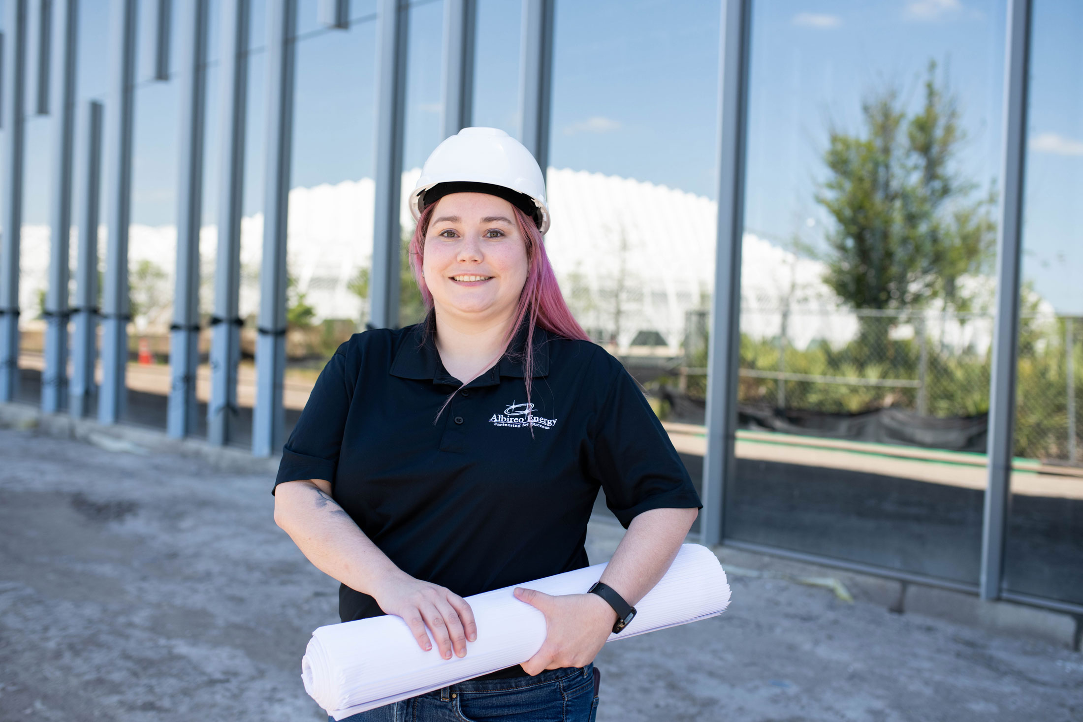Engineering alumna puts skills to work in ARC construction