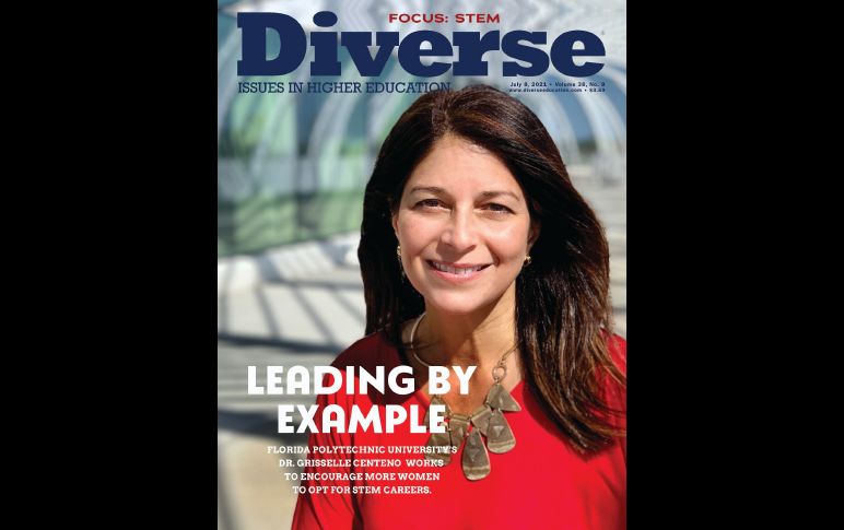 Florida Poly professor makes cover of nationwide diversity magazine