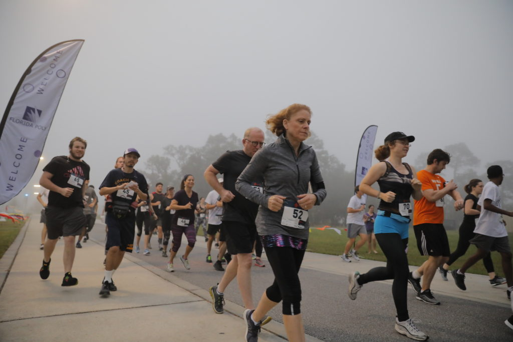 Florida Poly community comes together to race 5th Annual Pi Run.