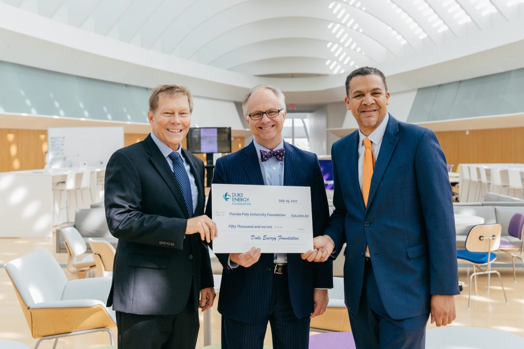 Florida Poly receives $50,000 from the Duke Energy Foundation for Scholarships