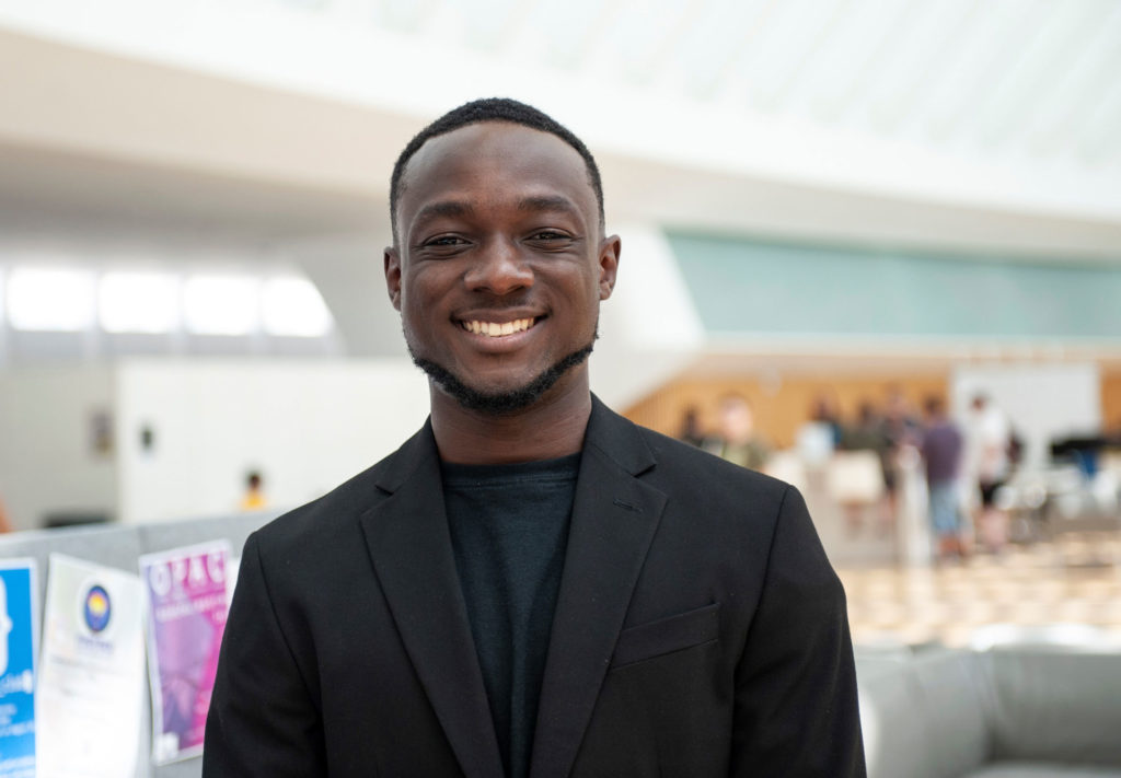 Senior Osaki Pokima prepares himself for life after college by attending the many career events and opportunities Florida Polytechnic University offers its students throughout the academic year.