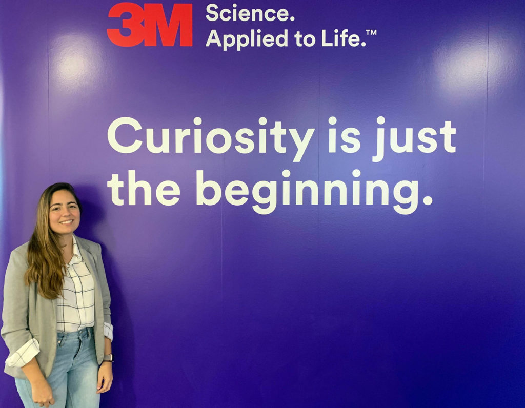 Florida Poly student interning at 3M.