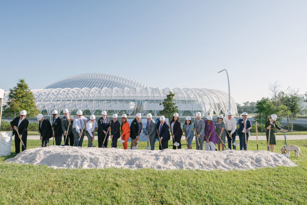 Florida Polytechnic University leadership and elected officials celebrated the groundbreaking of the Applied Research Center on Wednesday, Sept. 11, 2019. The facility will be the second academic building on the University campus in Lakeland, Florida.