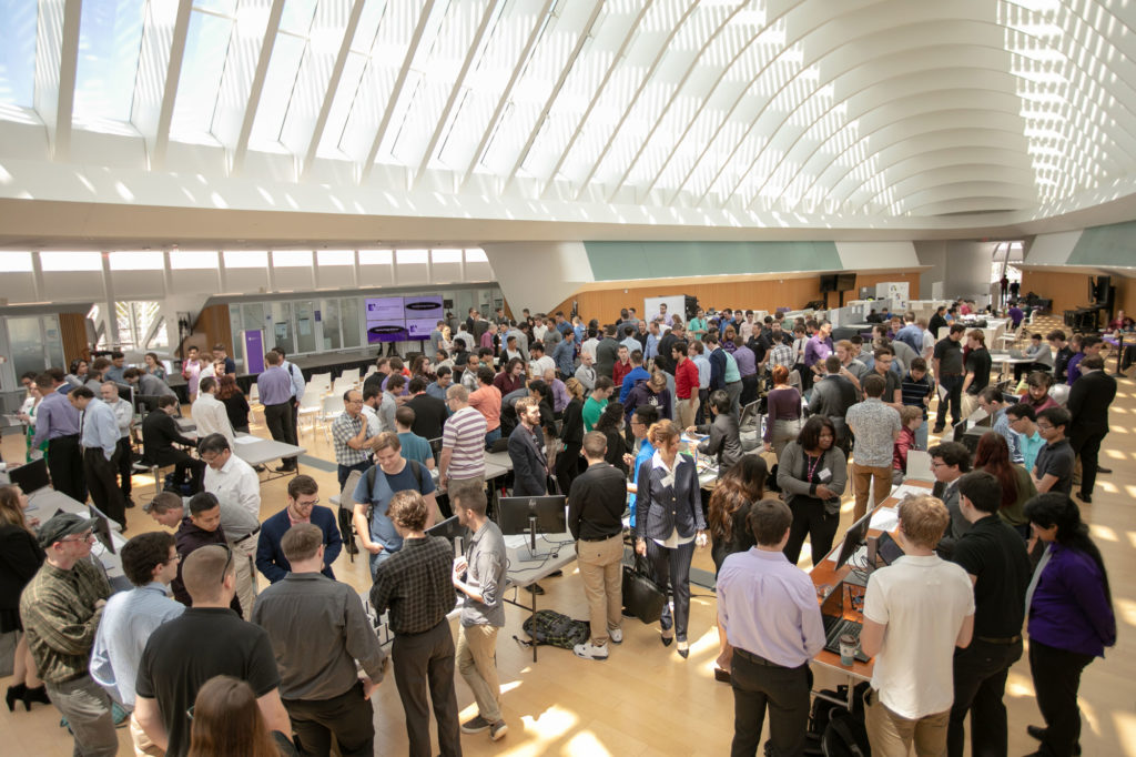Students and community gather for Capstone Design Showcase at Florida Polytechnic University.