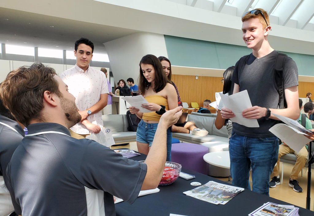 Students connected with nearly 40 clubs and organizations this week during Club Row, an annual event showcasing opportunities for students to get involved at Florida Polytechnic University.