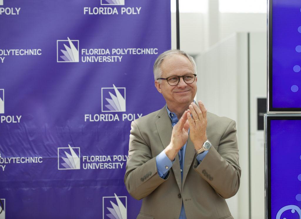 Florida Polytechnic University President Randy K. Avent celebrating at ABET celebration.
