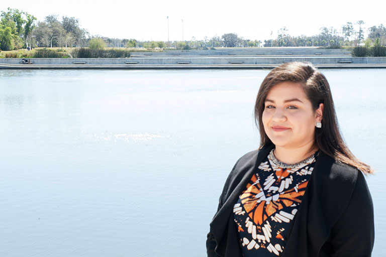 Danya Rubio will begin her career as an engineer with Sofidel, the nation's second largest tissue paper distributor located in nearby Haines City.