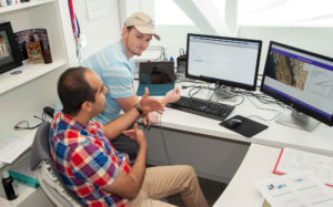 Student research assistant James Holland works with assistant professor of electrical engineering Dr. Arman Sargolzaei on autonomous vehicle technology research. Florida Polytechnic University will have a new simulation facility for real-time testing of this technology, thanks to a new National Science Foundation grant.