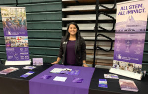 Florida Polytechnic University admissions counselor and graduate student Karla Martinez travels throughout the state to help high school students decide whether the STEM-focused school is the right fit for them.