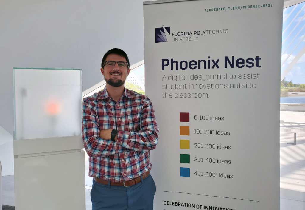 Justin Heacock, entrepreneurship coordinator at Florida Polytechnic University, is attending the Global Consortium of Entrepreneurship Centers annual event in Stockholm, Sweden, on Sept 27-28. The University's entrepreneurship program is a finalist for an international award at the event.