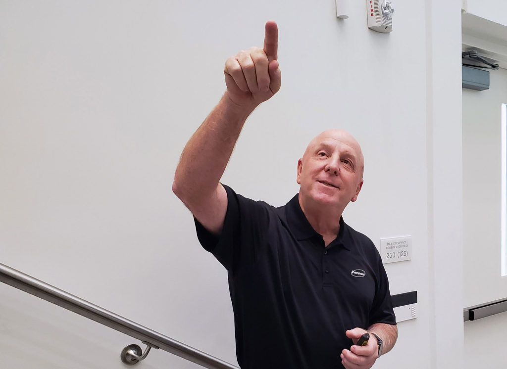 Joe Viscuso, senior vice president and director of strategic growth at Pennoni, an engineering and construction services firm, spoke to Florida Polytechnic University students during the first Innovation Speaker Series lecture of the fall semester.