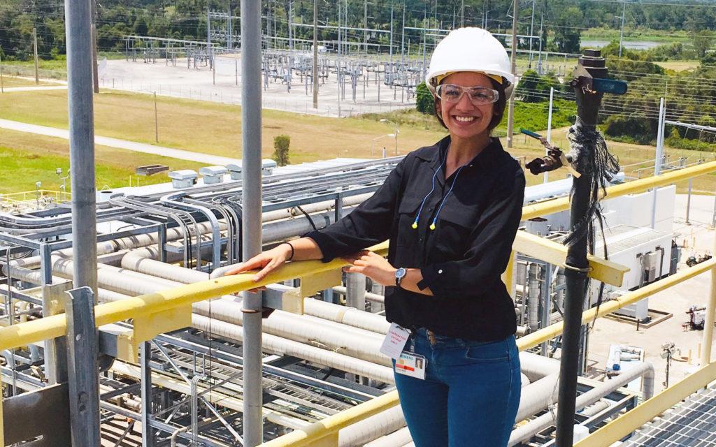 Florida Poly student interning at Siemens.