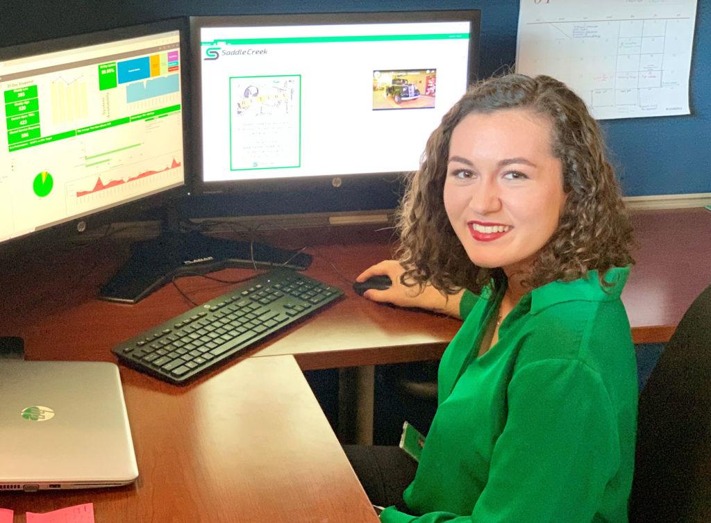 Florida Poly student intern at Saddle Creek Logistics Services