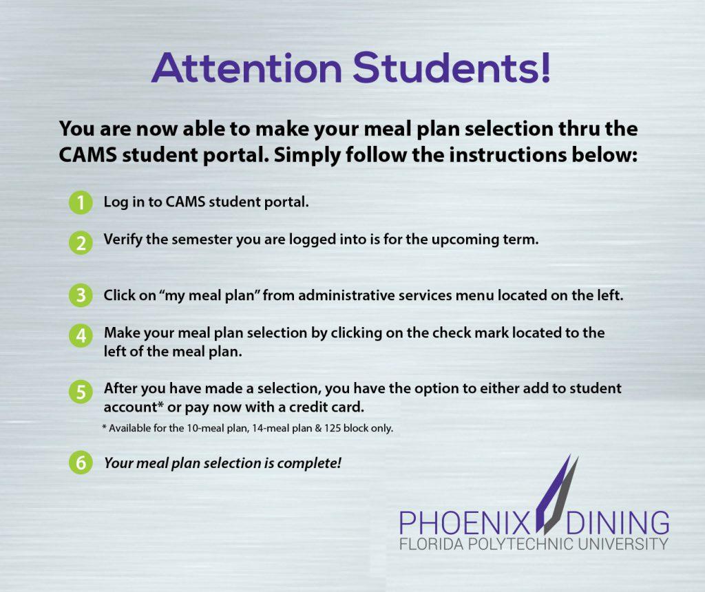 Phoenix Dining Portal Instructions