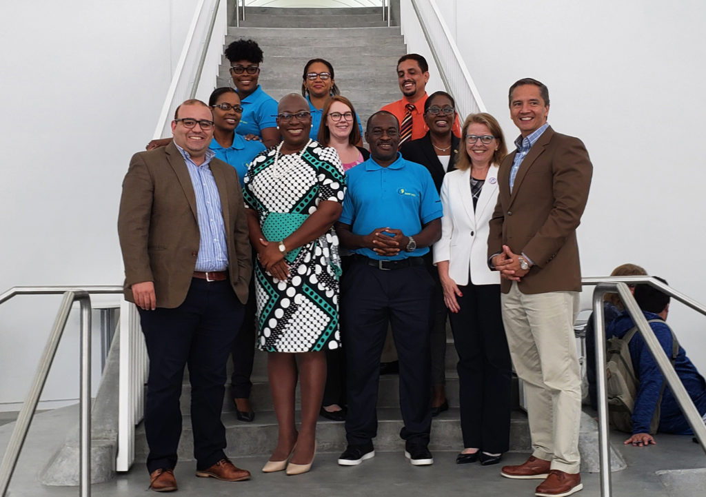 A delegation from the St. Lucia Ministry of Education visits with Florida Polytechnic University representatives to discuss opportunities for educational and professional partnerships on Oct. 3.