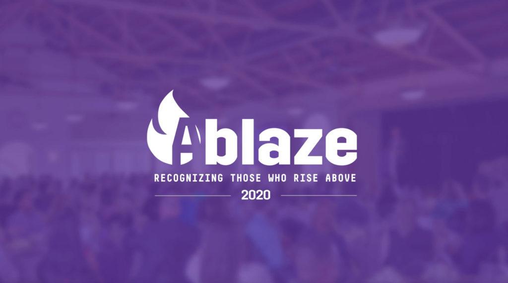 Ablaze logo.