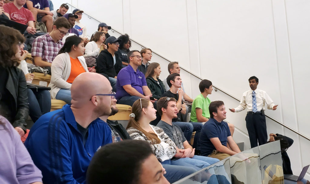Crowded room at Florida Poly Aula Magna.