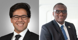 Two photos of dark skinned males.